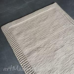 dywan ze sznurka baweŁnianego beŻowy 100x140 cm - dywan, chodnik, sznurek