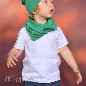 bawełniana letnia czapa smerfetka zielona , bawełna, handmade, surowa, lato