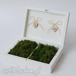 pudełko na obrączki ślubne rustykalne, ślub, pudelkonaobraczki, wesele
