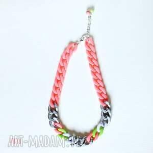 gango bango - neon, koral, róż, łańcuch, nowoczesny, modny