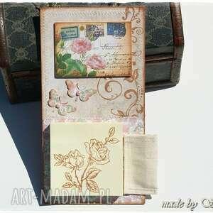 scrapbooking notesy notes na lodówkę - różany ogród, magnes, lodówkę, notatnik, lista