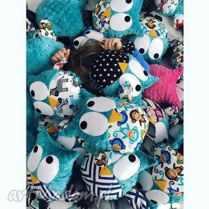 sowa gustaw, wzór małpki, sowa, sówka, zabawka, małpka, minky dla dziecka