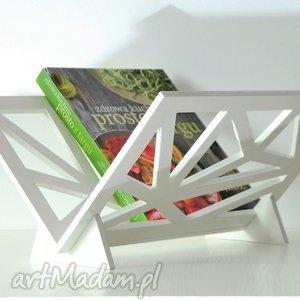 Prezent Stojak na gazety, geometryczny, nowoczesny, drewniany, prezent, nowowczesny