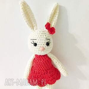 króliczka malwina - króliczek, maskotki, przytulanka, królik