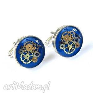 męska spinki - steam dream blue, biżuteria