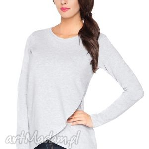 bluzki bluzka h_2 z kopertowym przodem - rawear, dresowa, wygodna, kopertowa, surowa