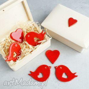 zakochane ptaszki, romantyczne, walentynki, ślub, prezent, magnesy, prezent