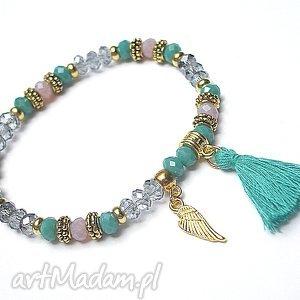 kolekcja rich boho - turquoise 14 03 17 , boho, chwost, kryształki bransoletki