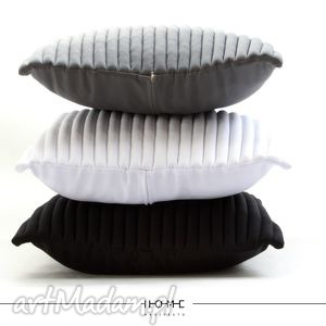 komplet poduszek colors 50 black, grey, white, poduszka, poduszki, designerskie
