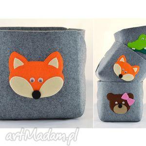 pojemnik na zabawki- rudy lisek, zabawki, lis, pokój, dziecko, dla