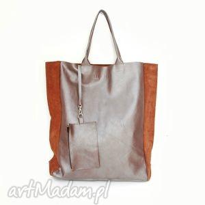 na ramię torba shopper pro, skóra, torba, ręcznie, szyta, uszyta torebki