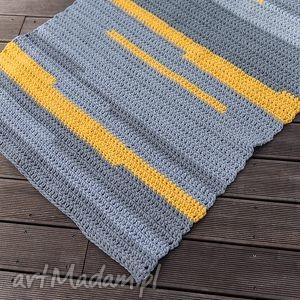 Dywan, dekoracja, chodnik, sznurek, bawełna, handmade, szydełko