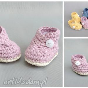 buciki zamówienie p michaliny, buciki, niemowlę, dziecko, narodziny, bawełna