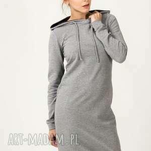 Sukienka sportowa Beata 2, wygodna, sportowa, ciepła, kaptur, dresowa, modna