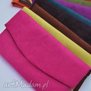 kopertówka z alcantary - wybór kolorów, kopertówka, kolory, alkantara torebki