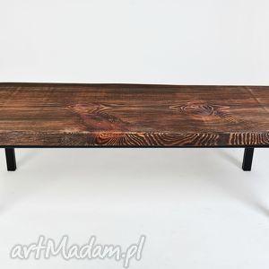 stolik ławka kobe - drewno, unikat, industrialny, minimalistyczny, designerski, do