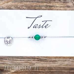 WHW Taste Green Agate, sznurkowa, sznureczkowa, delikatna, makrama, agat, trawiony