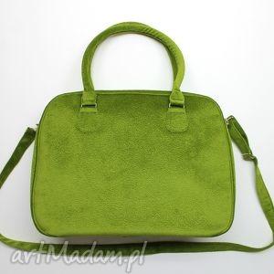kuferek weekend - tkanina tłoczona zielona, kufer, handmade, prezent, elegancka