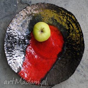 ceramiczna misa - czas lawy, misa, naczynie, ceramika, użytkowe, unikat, spożywcze