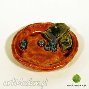 ceramiczna miseczka z jagodami, miseczka, jagody, ceramika, rękodzieło, drobiazgi