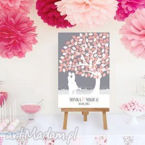 księgi gości drzewo wpisów zakochanej pary 50x70 cm, drzewo, księga, gości, ślub