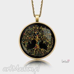medalion okrągły drzewo - życie, symbol, talizman, natura, grafika, korzenie