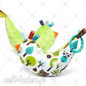 kurka przytulanka sensorek maskotka minky - zielony las, maskotka