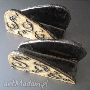 serwetniki z rytowanymi ornamentami, ceramika, handmade, serwetniki, unikatowe