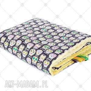 komplet minky kocyk 110x135 poduszka 40x50 pościel - komplet, minky, kocyk