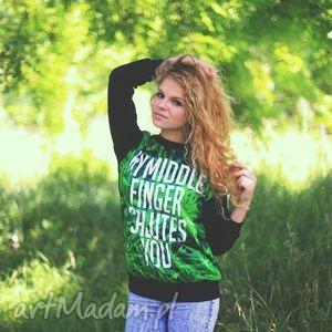 oryginalna bluza marihuana trawka z nadrukiem napisem, redmasterclothes,