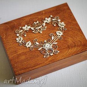 pudełko na obrączki ślubne, ślub, drewno, obrączki, eko, ruatykalne