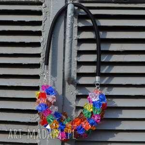 Fruit Jelly - kolorowy, naszyjnik, kryształki, galaretki, oryginalny, modny