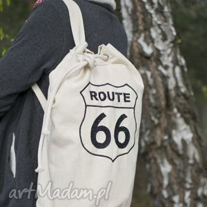 plecaki plecak,worek bawełniany, haft route 66, worek, plecak, torba, haft, route66