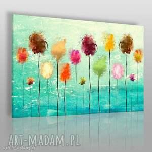 obraz na płótnie - abstrakcja kolorowy 120x80 cm 25401 , kolorowy, nowoczesny