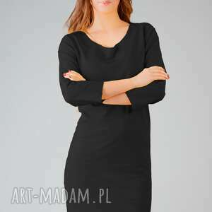 sukienka kami 9, wygodna, swobodna, midi, modna, surowa sukienki ubrania