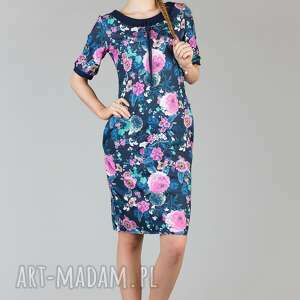 sukienki sukienka ramona 6, swobodna, wygodna, midi, modna, kieszenie, sportowa
