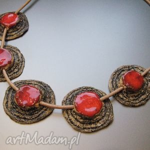 naszyjnik koral w kamieniu - kobiecy, naszyjnik, biżuteria, handmade, prezent
