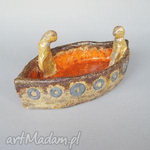 patera rozmowa na łodzi, patera, prezent, ceramika, dekoracje, handmade, oryginalna