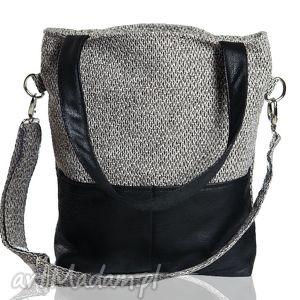 Kangoo S Grey Bering/Black , torba, torebka, szara, czarna