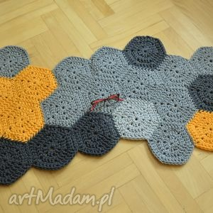 dywan mozaika dla p michała, dywan, chodnik, mozaika, bawełniany, sznurek