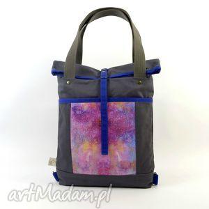 plecaki torba na ramię i plecak 2w1, gray , torboplecak, dziewczyna, prezent, święta
