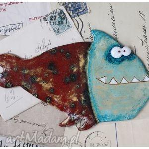 pirania, ryba, ceramika dom
