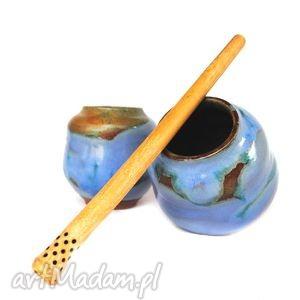 matero v- czarki do yerba mate 2szt, czarki, naczynia, ceramika, użytkowe, unikat