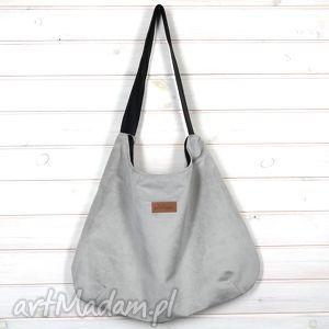 wyjątkowy prezent, torba julia szara stalowa, torba, pojemna, duża, mocna