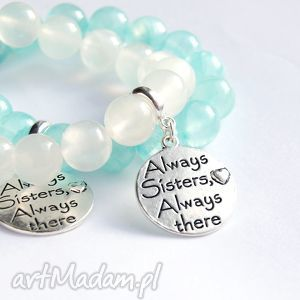 dla siostry - jadeit transparentny white, siostra