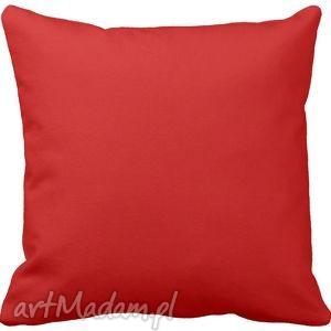 poduszka ozdobna dekoracyjna czerwona gładka 6572, jednokolorowa poduszki
