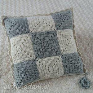 poduszka wykonana ręcznie wełna 45x45 cm 1szt, poduszki, poszewki, poduszka, poszewka