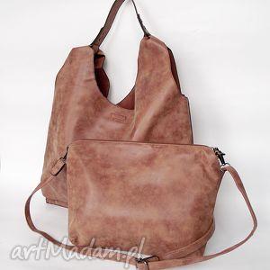 na ramię xl brązowa torba ramię, torba, worek, torebka