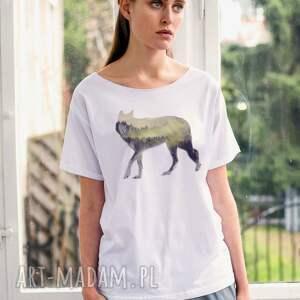 wood wolf oversize t-shirt, ubrania, wyjątkowe prezenty
