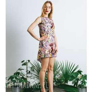 tunika kwiatowa różowa, sukienka, tunika, letnia, kwiatowa, wzorzysta, cienka